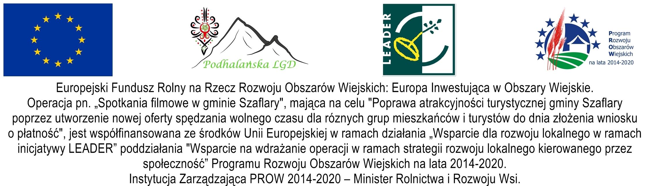 Stowarzyszenie dla rozwoju gm.Szaflary-Spotkania Filmowe...- tablica