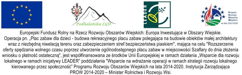 LKS Szaflary boisko- tablica